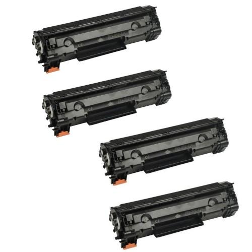 HP 83A (CF283A) New Compatible Black Toner Cartridge - 4 Packs